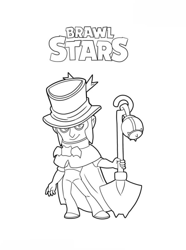 Kids-n-fun.de | Malvorlage Brawl Stars Mortis Brawl Stars