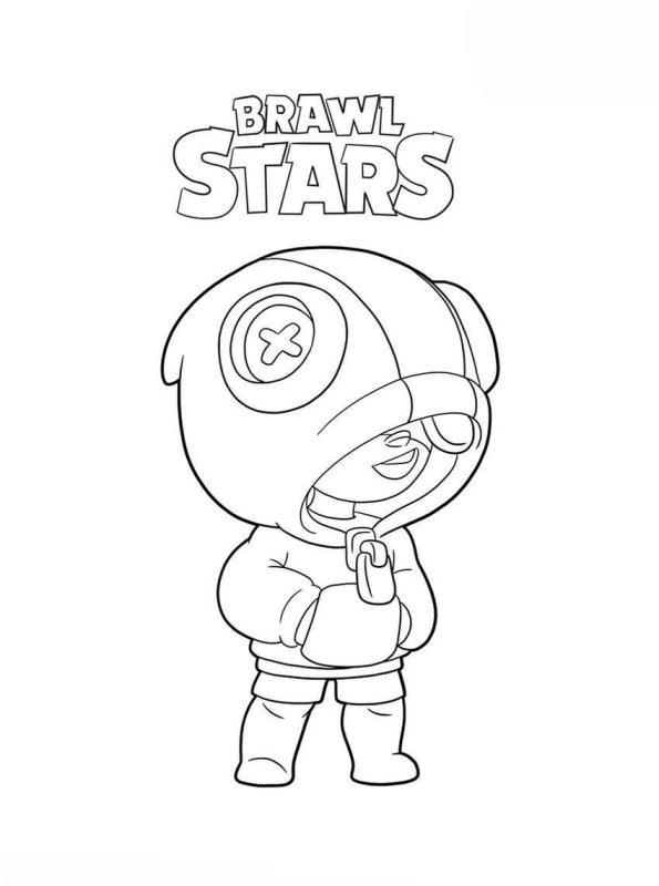 Kids-n-fun.de | Malvorlage Brawl Stars leon