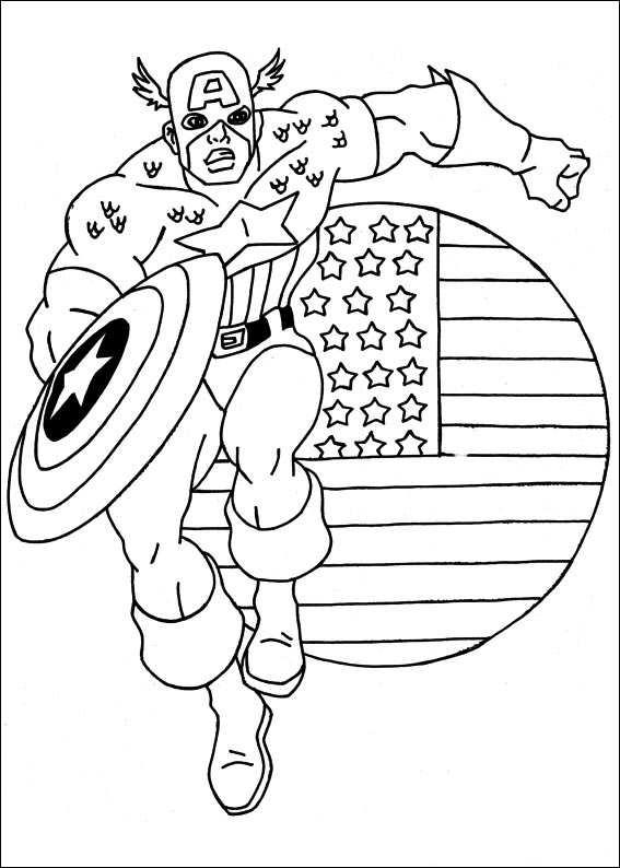 Kids N Fun De 22 Ausmalbilder Von Captain America
