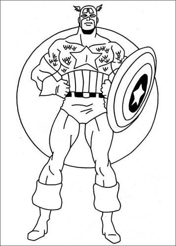 Kids N Funde 22 Ausmalbilder Von Captain America