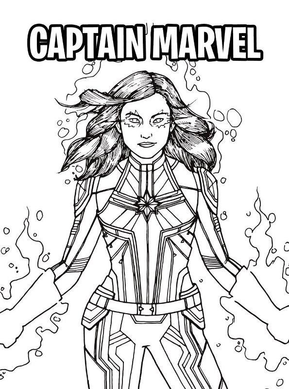 kidsnfunde  malvorlage captain marvel captain marvel