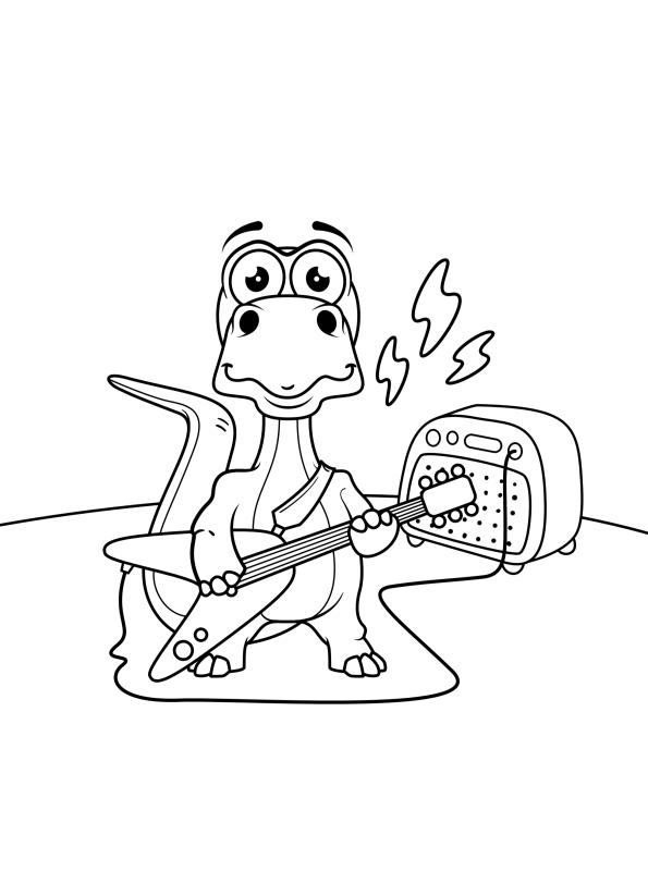 kidsnfunde  dino spielt gitarre