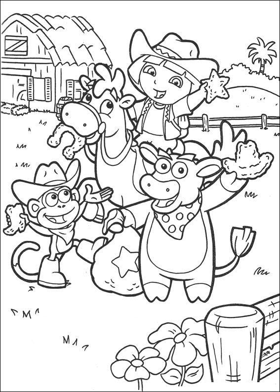 Fantastisch Dora Und Diego Malvorlagen Zum Ausdrucken Bilder ...