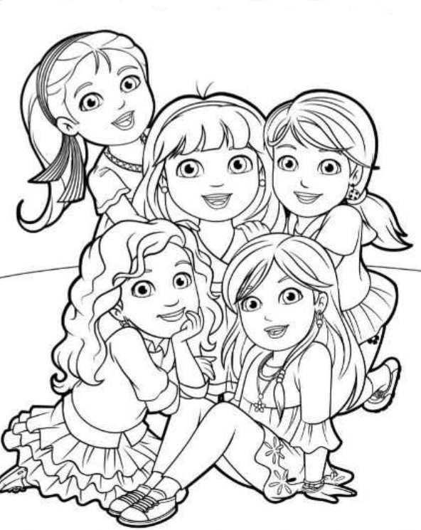 Kids-n-fun.de | 6 Ausmalbilder von Dora and Friends