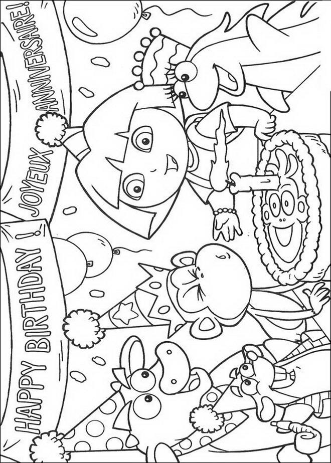 Kids-n-fun.de | 84 Ausmalbilder von Dora
