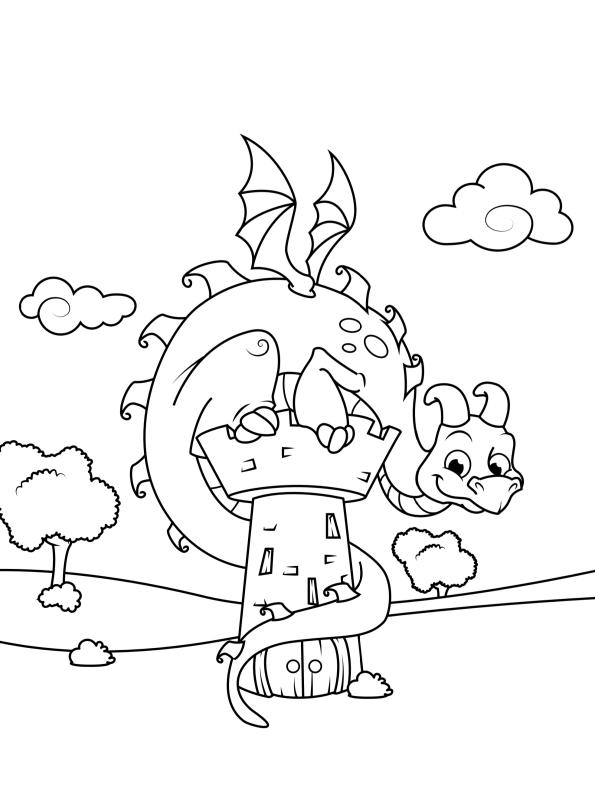 kidsnfunde  malvorlage drachen drache 1