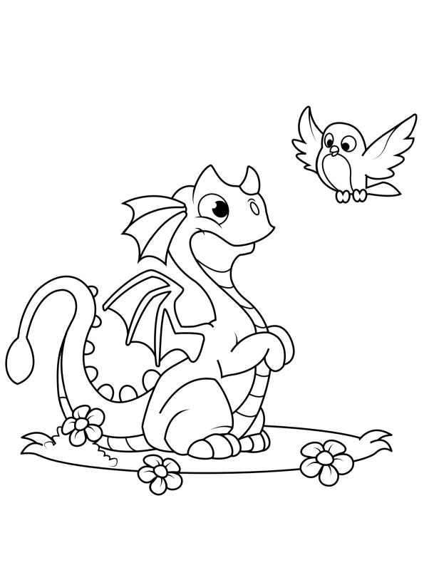 kidsnfunde  malvorlage drachen drache 2