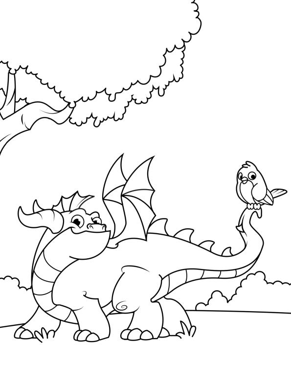 kidsnfunde  malvorlage drachen drache 5