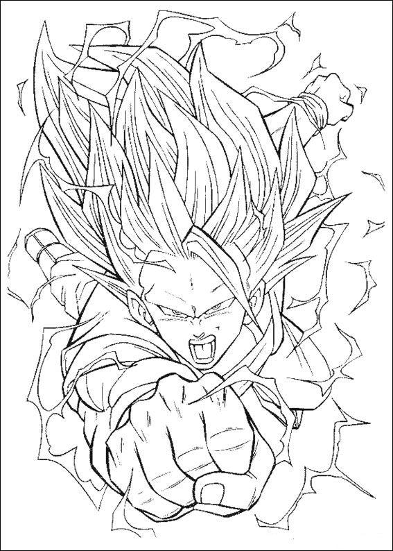 Kidsnfunde  55 Ausmalbilder von Dragon Ball Z