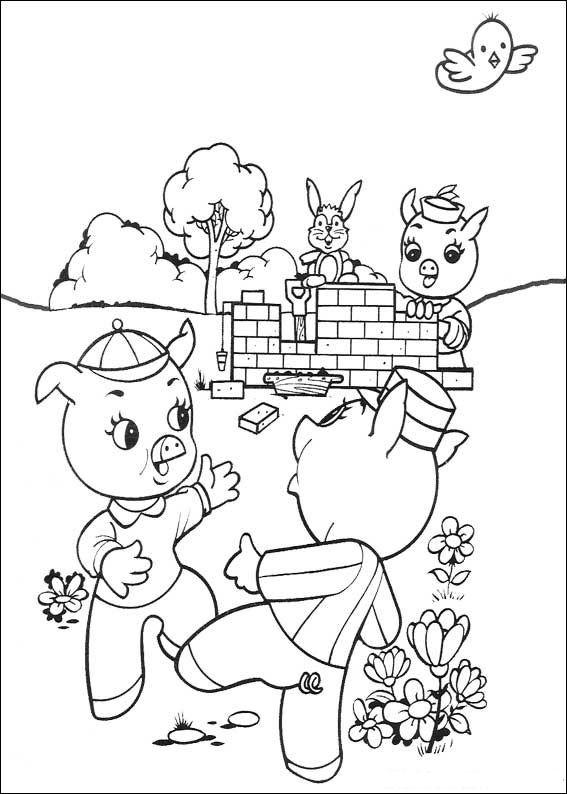 Erfreut Die Drei Kleinen Schweine Malvorlagen Ideen - Framing ...