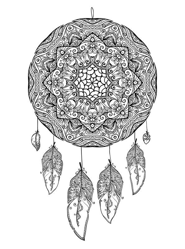 Free Printable Coloring Pages For Kids Dreamcatchers