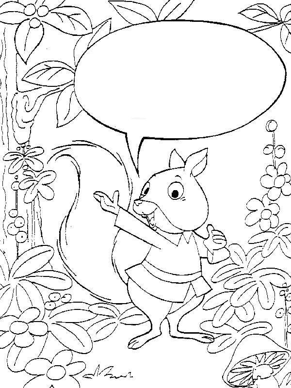 kids-n-fun.de | malvorlage eichhörnchen eichhörnchen