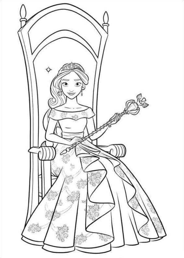 Ausmalbilder Prinzessin Elena Von Avalor Batavusprorace