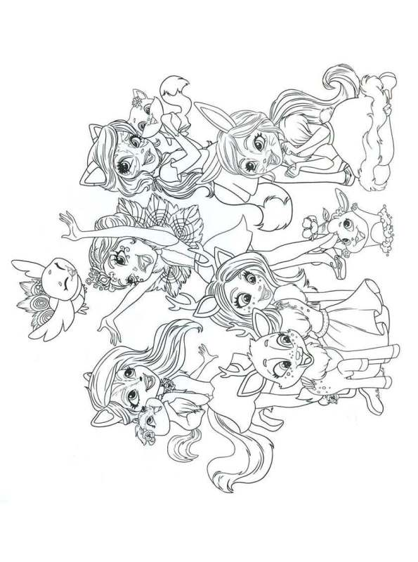 kidsnfunde  malvorlage enchantimals enchantimals 06