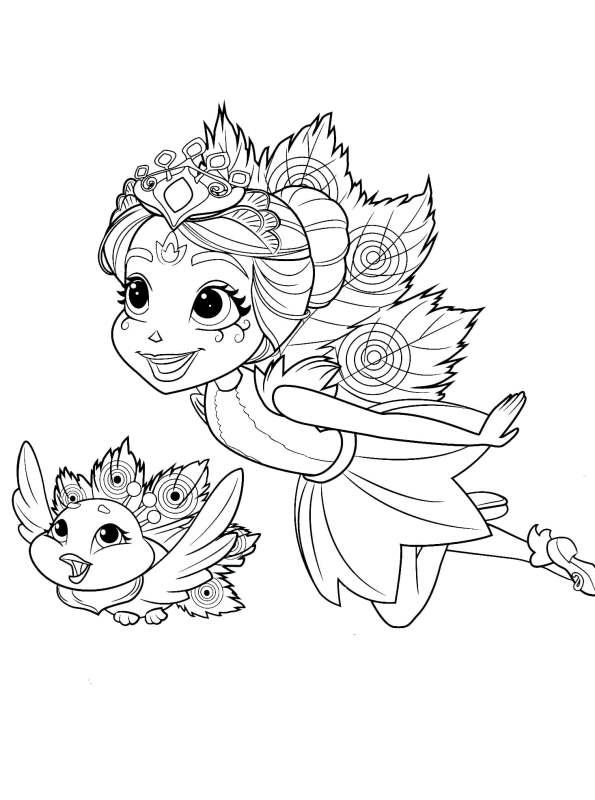 kidsnfunde  malvorlage enchantimals flap and peacock