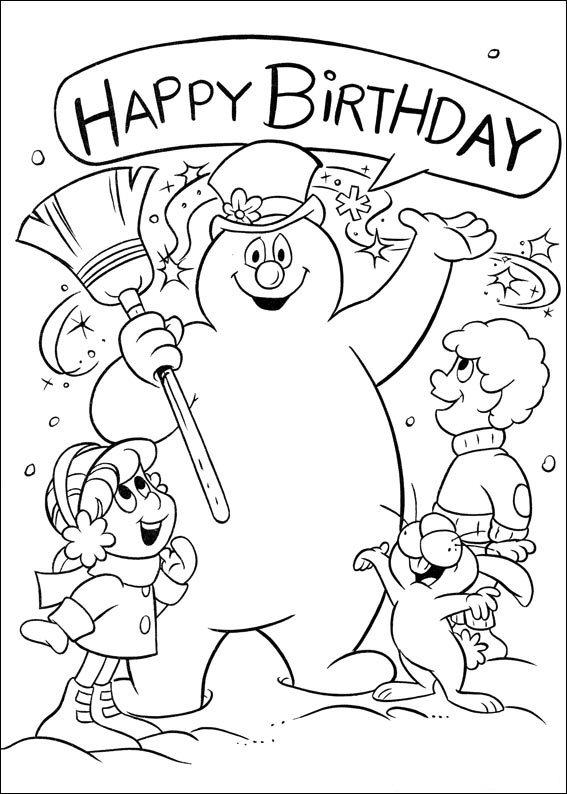 Kids-n-fun.de   Ausmalbild Frosty der Schneemann Frosty