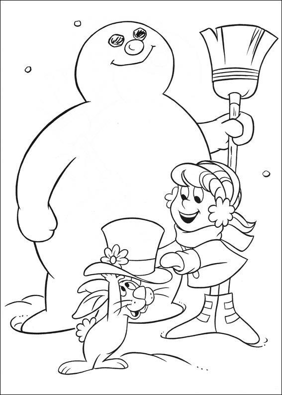 Kids-n-fun.de   24 Ausmalbilder von Frosty der Schneemann
