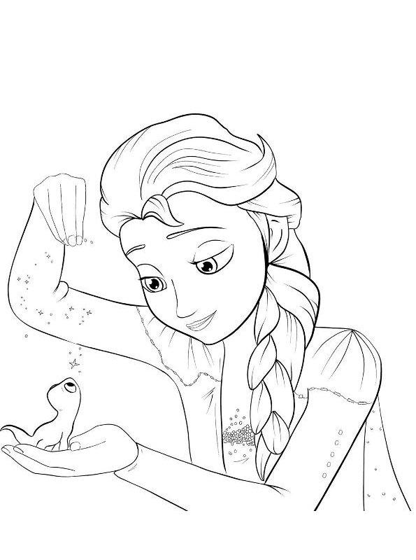 Kids-n-fun.de  Malvorlage Frozen 2 Elsa Bruni