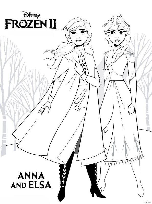 kids-n-fun.de | malvorlage frozen 2 frozen 2 anna elsa