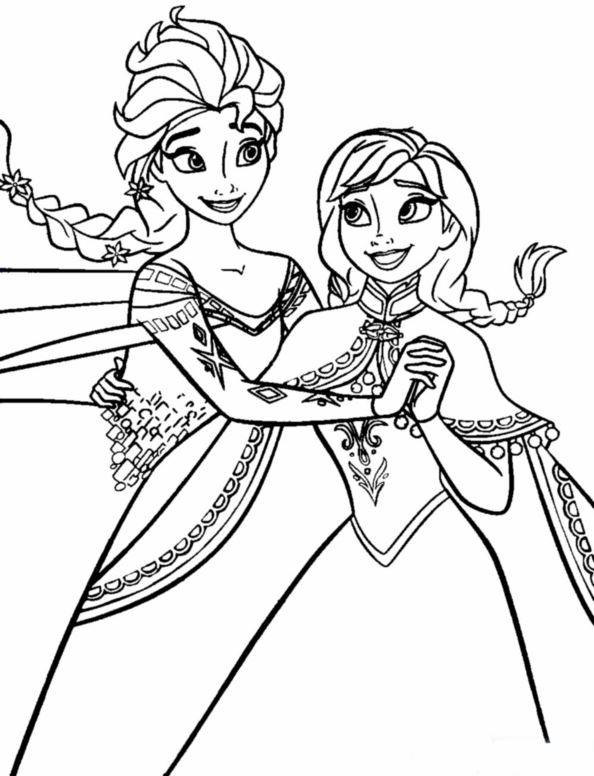 Kids N Fun De 17 Ausmalbilder Von Die Eiskönigin Anna Und Elsa