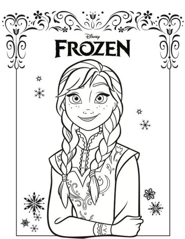 Kids N Fun De Ausmalbild Die Eiskonigin Anna Und Elsa Anna Frozen