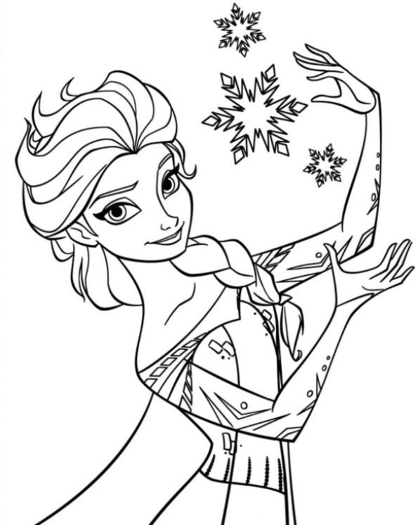 Kids N Fun De Ausmalbild Die Eiskönigin Anna Und Elsa Elsa 5