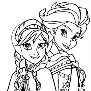 Kids N Fun De 17 Ausmalbilder Von Die Eiskonigin Anna Und Elsa