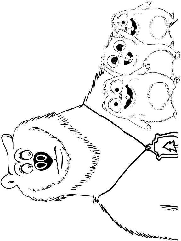 Kids n 6 ausmalbilder von grizzy und die lemminge - Dessin de grizzly ...