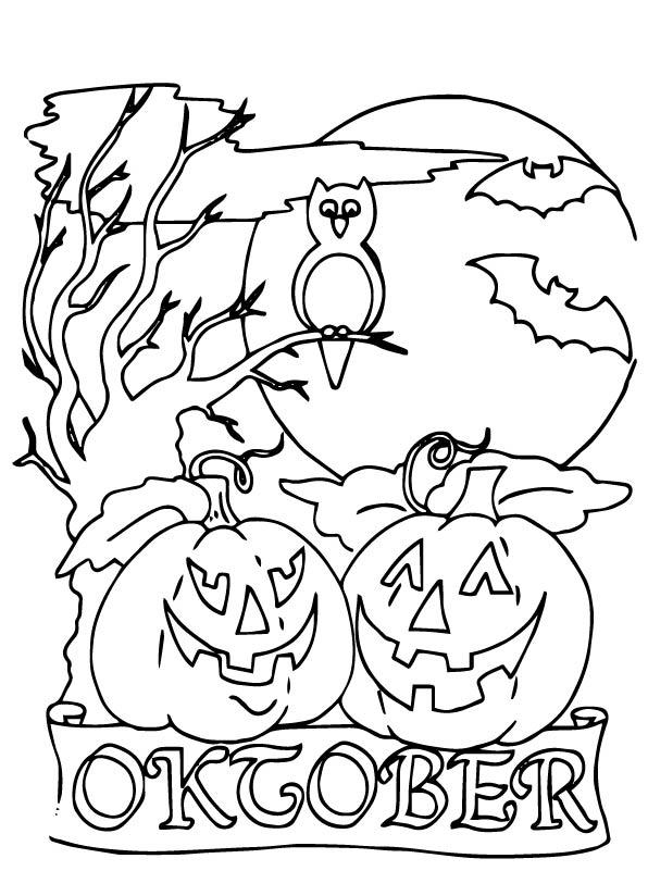 Kids-n-fun.de | Ausmalbild Halloween Halloween