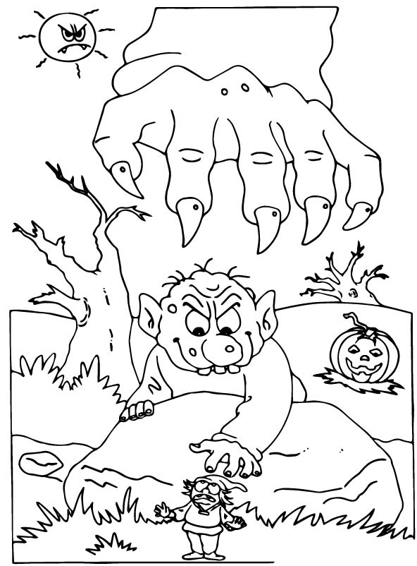 kids-n-fun.de   malvorlage halloween halloween