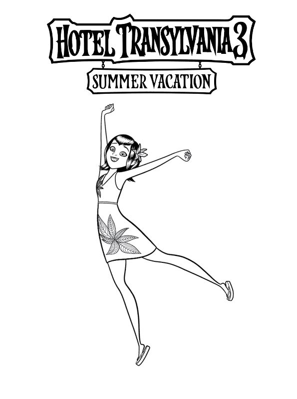 kidsnfunde  malvorlage hotel transylvania 3 summer