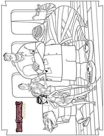 Kids N Fun De 13 Ausmalbilder Von Hotel Transylvania 3