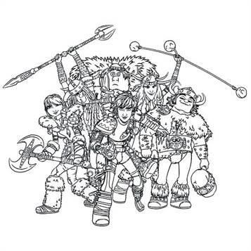Kids-n-fun.de | 7 Ausmalbilder von Drachenzähmen leicht ...