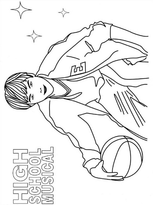 highschool musical coloring pages sharpay | Kids-n-fun.de | 9 Ausmalbilder von High School Musical