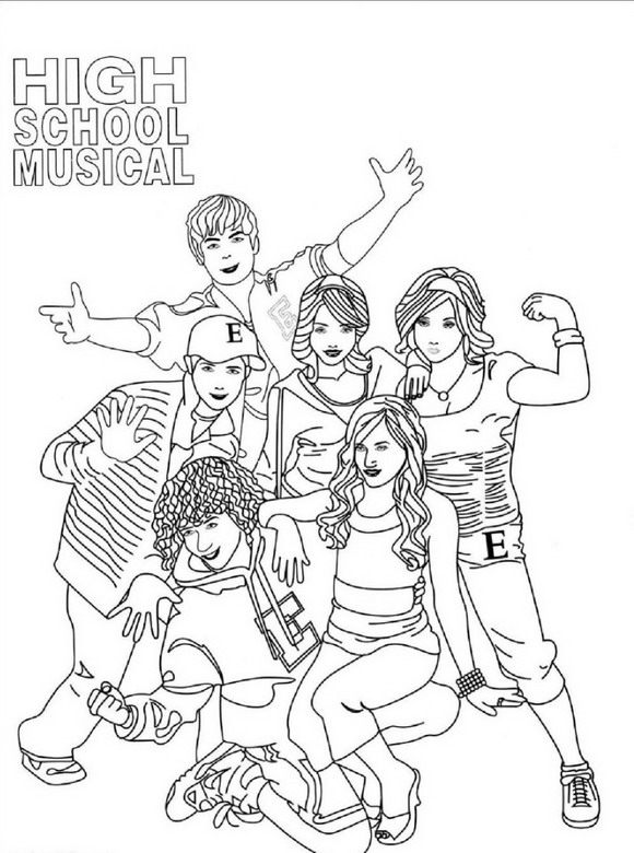 coloring pages of highschool musical - photo#3
