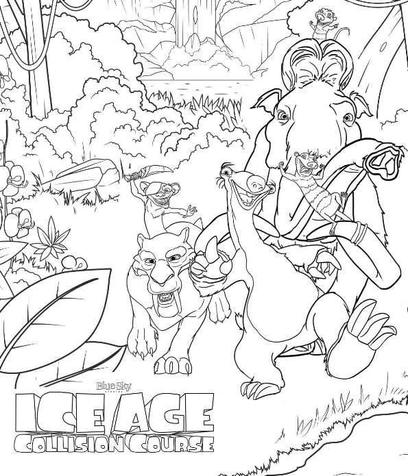 Ice Age Coloring Pages - GetColoringPages.com   695x595