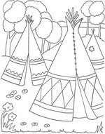 Navajo Hogan Coloring Page Printable Coloring Pages