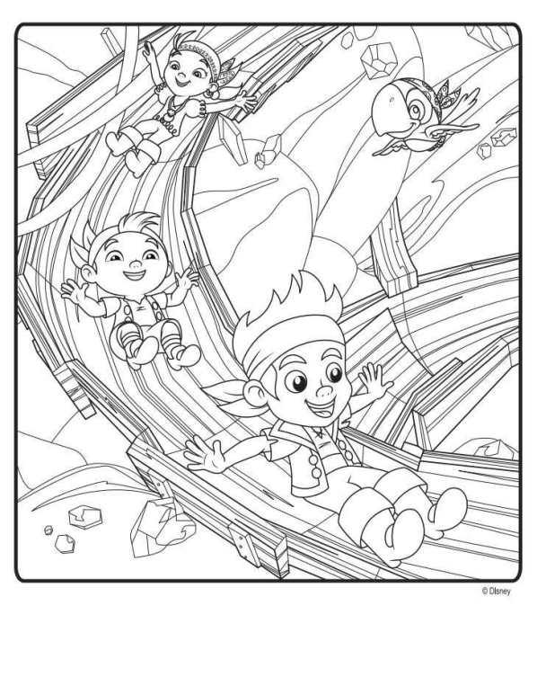 coloring pages of jake and the neverland pirates - kids n 9 ausmalbilder von jake und die nimmerland