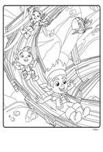kids-n-fun | 9 ausmalbilder von jake und die nimmerland piraten