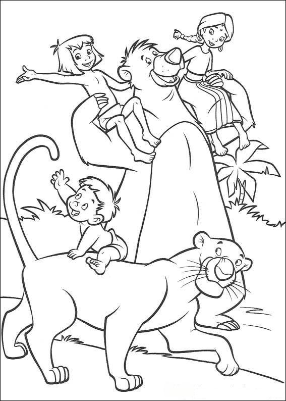Kids N Fun De 25 Ausmalbilder Von Dschungelbuch 2