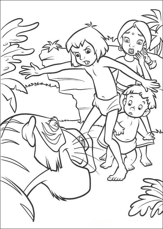 kidsnfunde  malvorlage dschungelbuch 2 dschungelbuch 2