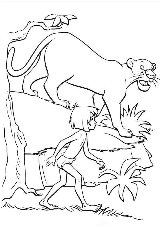 Kids N Fun De 62 Ausmalbilder Von Das Dschungelbuch