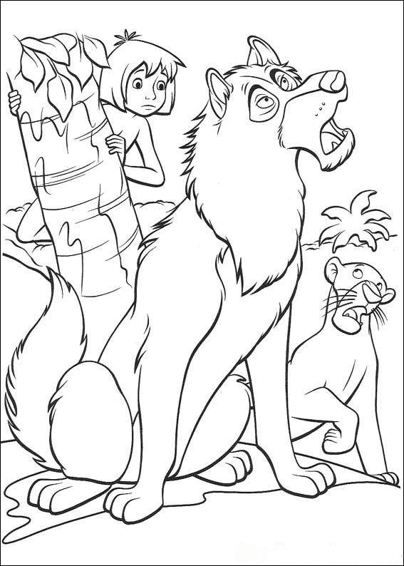 Kids-n-fun.de | 62 Ausmalbilder von Das Dschungelbuch