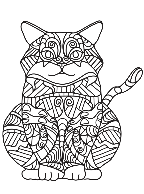 kidsnfunde  malvorlage katzen erwachsene katzen