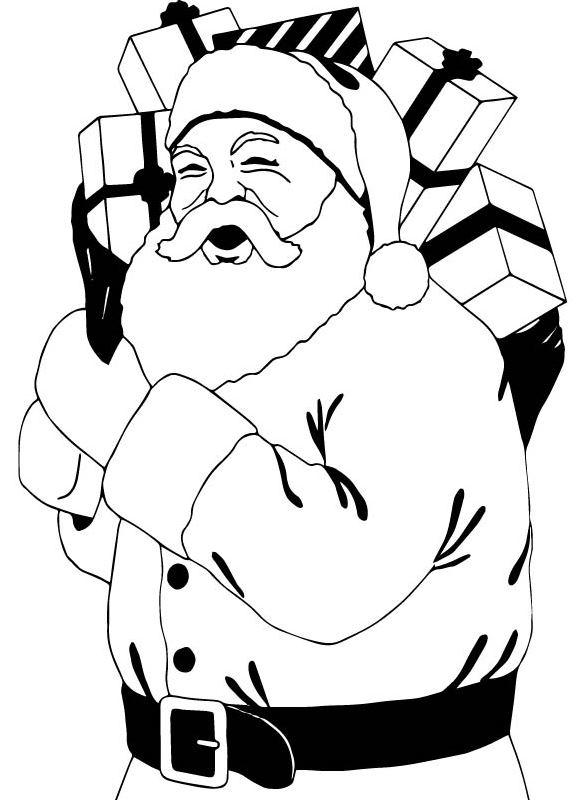 kidsnfunde  malvorlage weihnachten santa claus