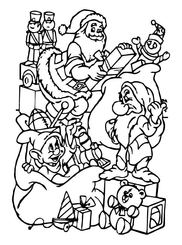 Kids N Fun De 48 Ausmalbilder Von Weihnachten Disney