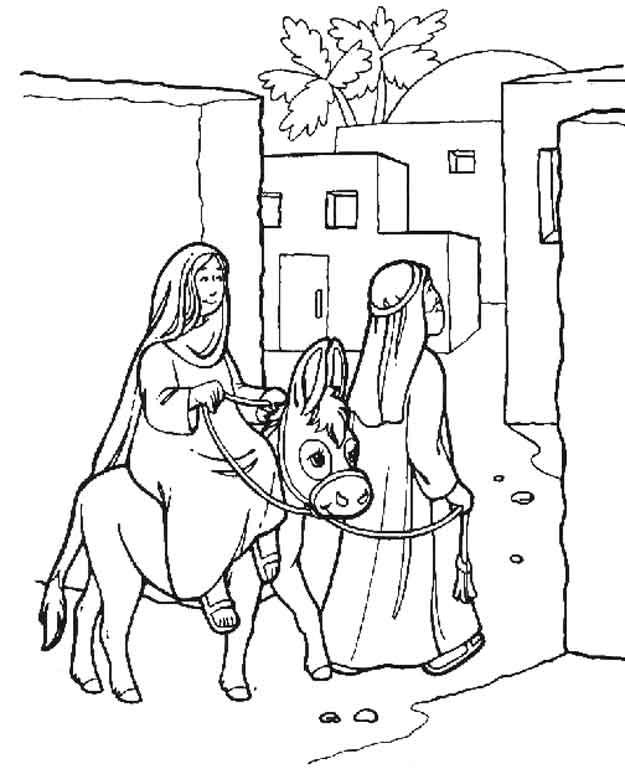 Kids N Fun De 31 Ausmalbilder Von Bibel Weihnachtsgeschichte