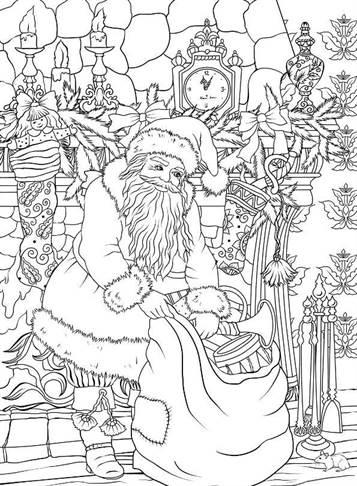 Kids N Funde 10 Ausmalbilder Von Weihnachten Nostalgisch