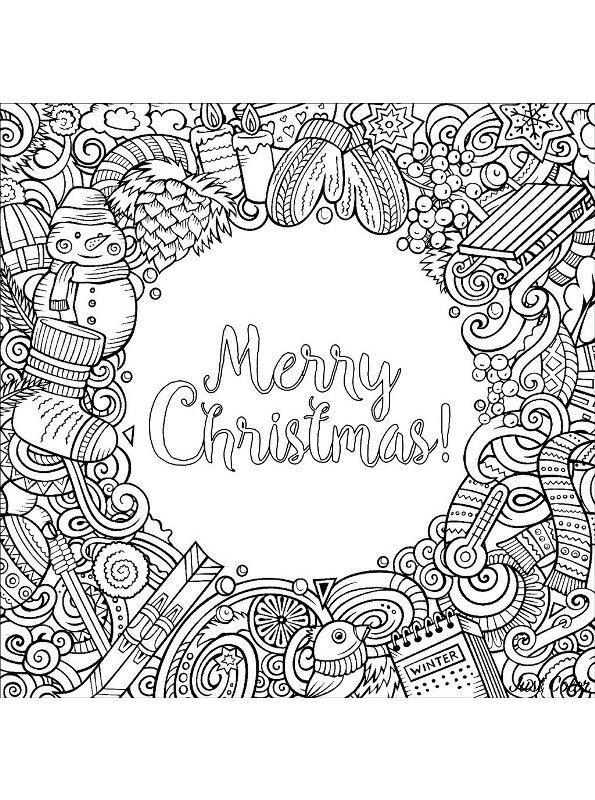 kidsnfunde  malvorlage weihnachten erwachsene merry