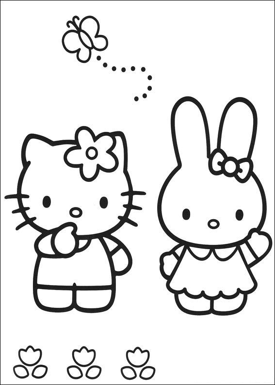 Kids-n-fun.de | 54 Ausmalbilder von Hello Kitty